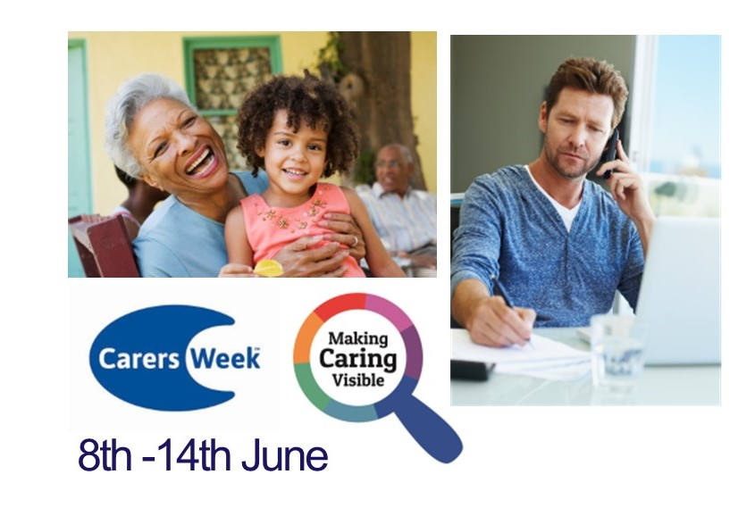 carers week 2020 image logos and people