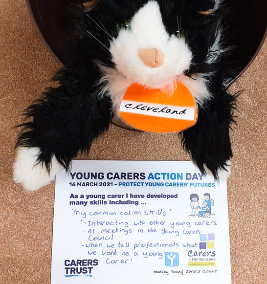 Young Carers Action Day 2021 completed skills card
