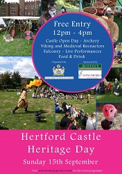 Hertford Castle Heritage Day 2019 poster