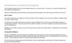 Information for practice websites
