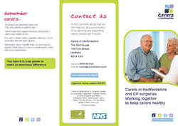 Carers in Hertfordshire and GP surgeries: Working together to keep carers healthy