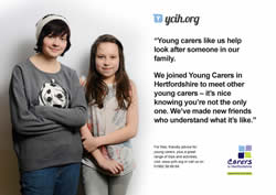 Noticeboard poster: Young Carers