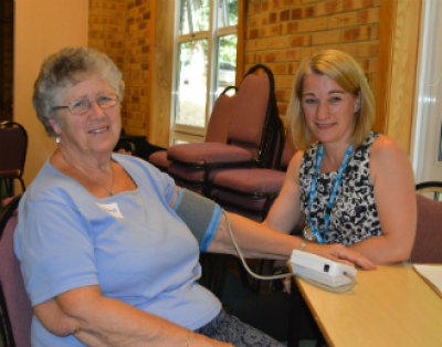 A carer gets her blood pressure check during the Watford Carers Support Hub Healthy Hub event