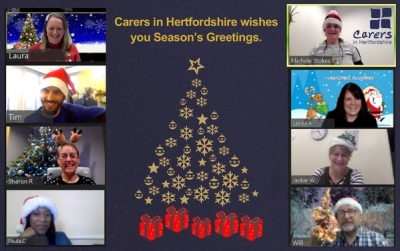 Season's Greetings from Carers in Hertfordshire