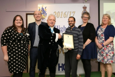 Some of the Community Navigator team celebrate winning the High Sheriff of Hertfordshire Award