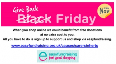 Your online shopping could be generating free donations for our work with unpaid carers